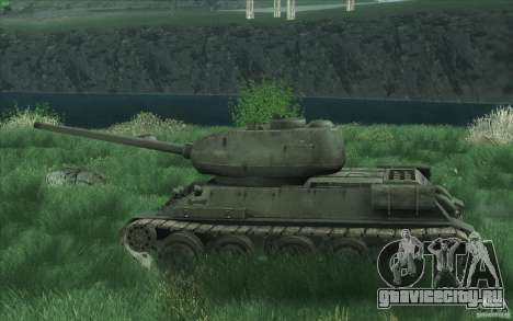 Т-34-85 из игры COD World at War для GTA San Andreas вид сзади