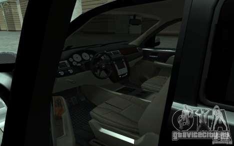 Chevrolet Suburban 2010 для GTA San Andreas вид сзади