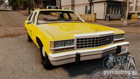Ford LTD Crown Victoria 1987 L.C.C. Taxi для GTA 4