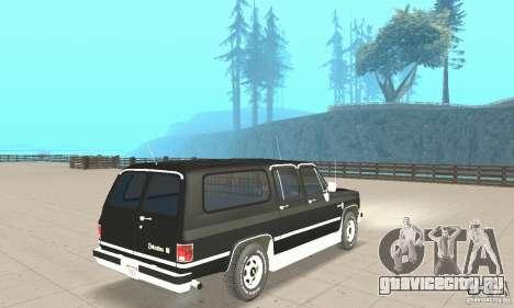 Chevrolet Suburban FBI 1986 для GTA San Andreas вид слева
