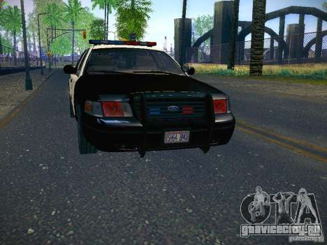 Ford Crown Victoria Police Intercopter для GTA San Andreas вид сзади слева