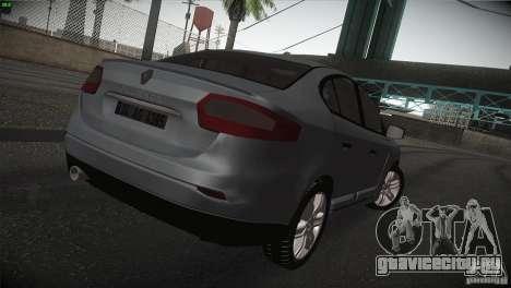 Renault Fluence для GTA San Andreas вид справа