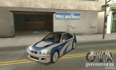 BMW M3 Tunable для GTA San Andreas вид изнутри