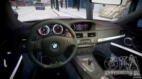 BMW M3 E92 stock для GTA 4 вид сзади