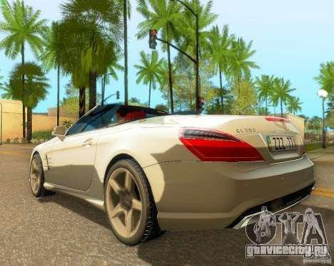 Mercedes-Benz SL350 2013 для GTA San Andreas вид сзади слева