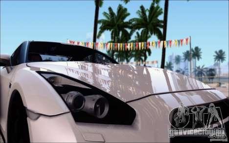 Nissan GTR Egoist 2011 (Версия с грязью) для GTA San Andreas вид изнутри