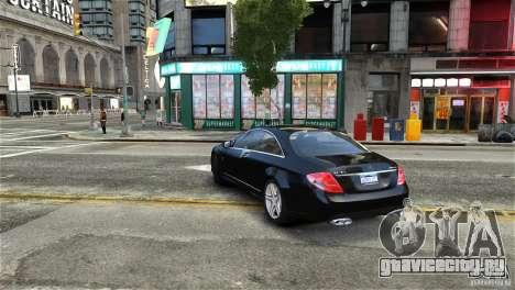 Mercedes-Benz CL65 AMG v1.5 для GTA 4 вид справа