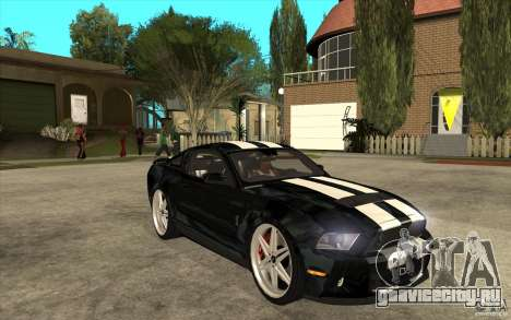 Ford Shelby GT500 для GTA San Andreas вид сзади