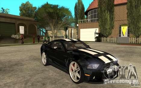 Ford Shelby GT500 для GTA San Andreas вид сзади