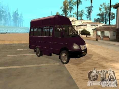 ГАЗель 32213 маршрутное такси для GTA San Andreas вид сзади слева