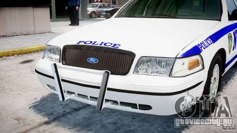 Ford Crown Victoria NYPD для GTA 4 вид сверху