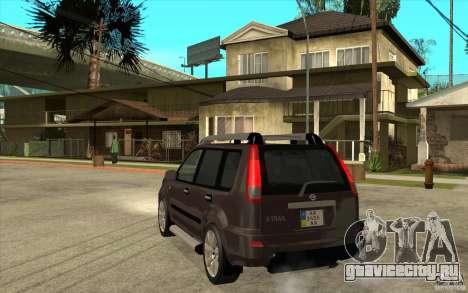 Nissan X-Trail 2001-2007 для GTA San Andreas вид сзади слева
