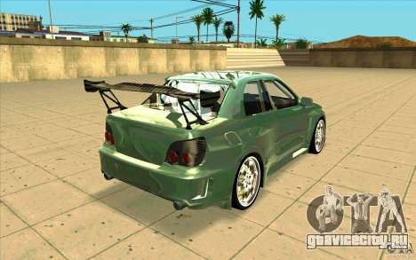 Subaru Impreza STI для GTA San Andreas вид изнутри