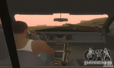Ford Crown Victoria Indiana Police для GTA San Andreas вид сзади слева