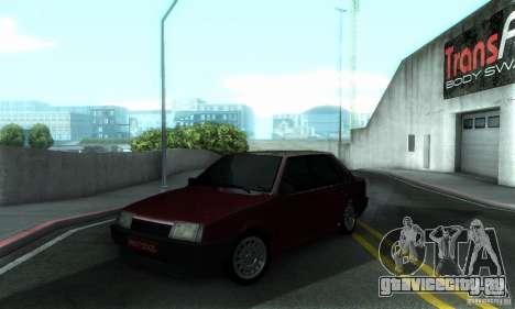 ВАЗ 21099 PROTOCOL для GTA San Andreas вид сверху