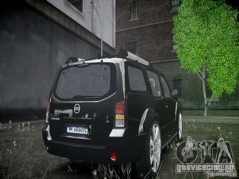 Nissan Pathfinder 2010 для GTA 4 вид сзади