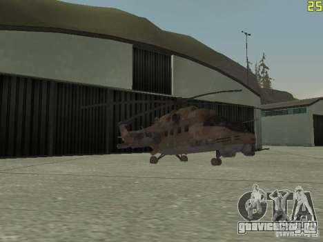Ми-24П Пустынный камуфляж для GTA San Andreas вид сверху