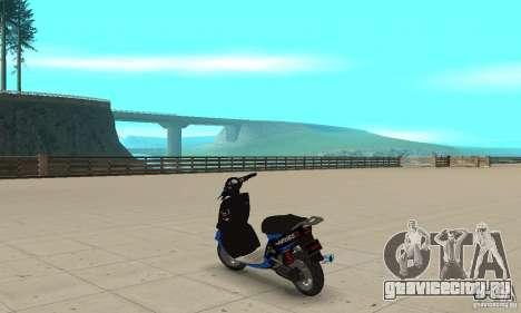 FaggioIV Chnnge General для GTA San Andreas вид сзади слева