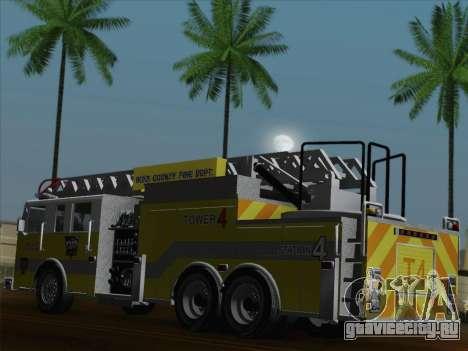 Pierce Arrow XT BCFD Tower Ladder 4 для GTA San Andreas колёса