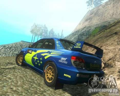 Subaru Impreza WRX STI DIRT 2 для GTA San Andreas вид сзади слева