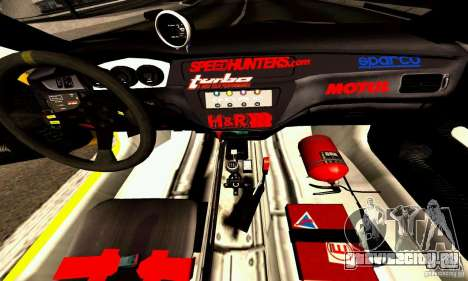 Mitsubishi Lancer Evolution VIII - ProSpeed для GTA San Andreas вид изнутри