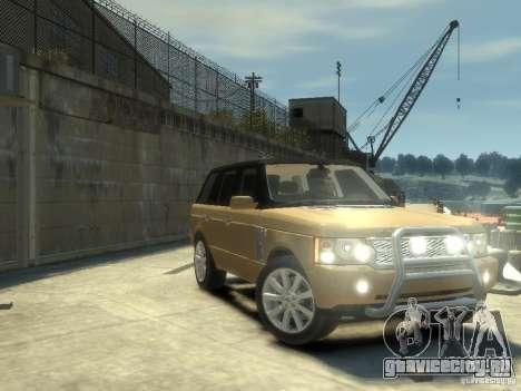 Range Rover Supercharged 2008 для GTA 4 вид изнутри