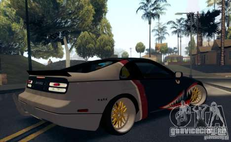 Nissan 300ZX Bad Shark для GTA San Andreas вид снизу