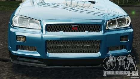 Nissan Skyline GT-R R34 2002 v1.0 для GTA 4 двигатель