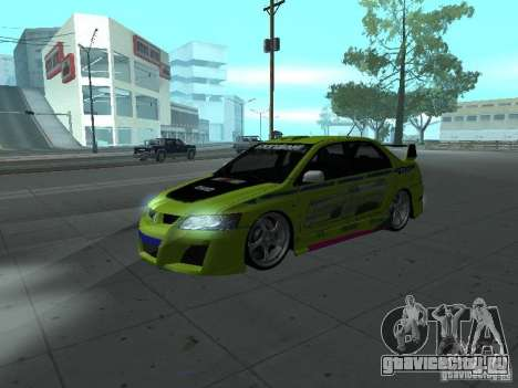 Mitsubishi Lancer Evolution 8 для GTA San Andreas салон