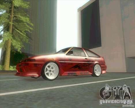 Ae86 tuned by Xavier для GTA San Andreas вид сзади