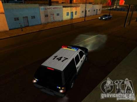 Chevrolet Suburban Los Angeles Police для GTA San Andreas вид сверху