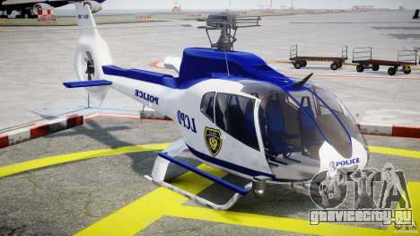 Eurocopter EC 130 LCPD для GTA 4 вид сзади