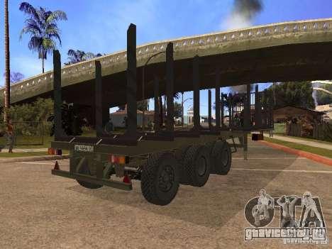 Прицеп МАЗ 99864 для GTA San Andreas вид сзади слева