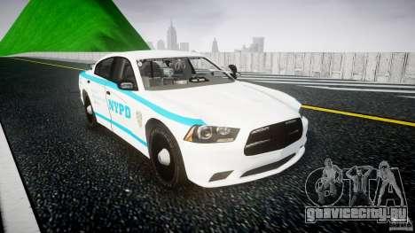 Dodge Charger NYPD 2012 [ELS] для GTA 4 вид сзади