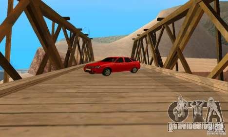 Лада Приора хэтчбэк для GTA San Andreas вид справа