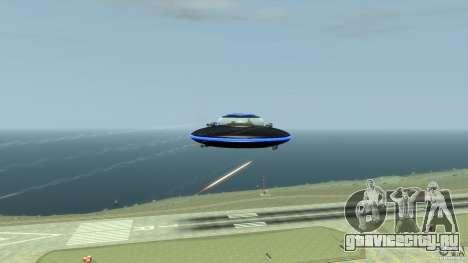 UFO neon ufo blue для GTA 4 вид изнутри