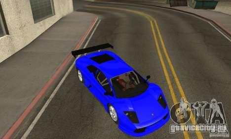 Lamborghini Murcielago R GT для GTA San Andreas вид сбоку