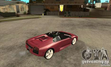 Lamborghini Murcielago Roadster Final для GTA San Andreas вид справа