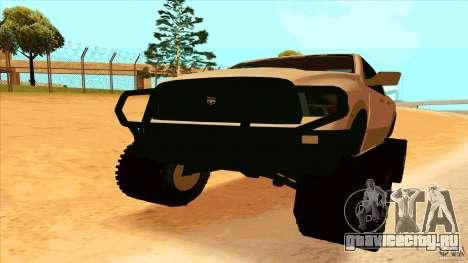 Dodge Ram 2500 4x4 для GTA San Andreas вид справа