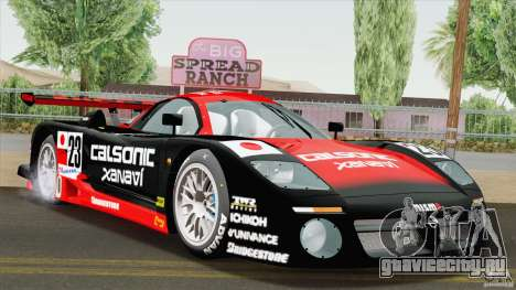 Nissan R390 GT1 1998 v1.0.1 для GTA San Andreas вид сзади слева