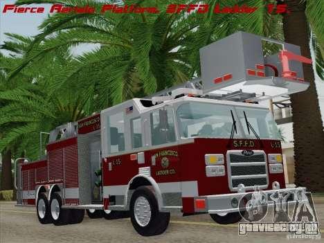 Pierce Aerials Platform. SFFD Ladder 15 для GTA San Andreas