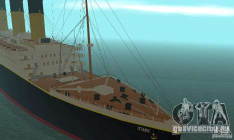RMS Titanic для GTA San Andreas вид сзади