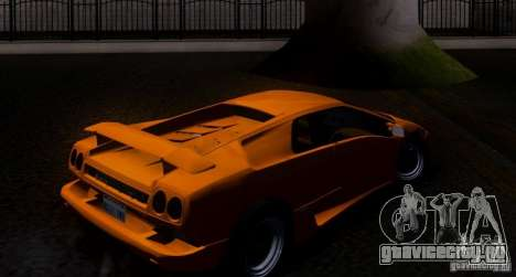 Lamborghini Diablo VTTT Black Revel для GTA San Andreas вид сзади