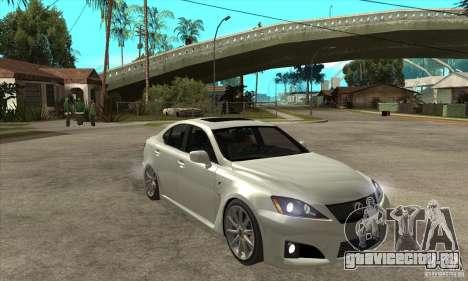 Lexus IS F 2009 для GTA San Andreas вид сбоку