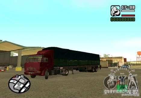 Kamaz 5460 для GTA San Andreas вид сзади