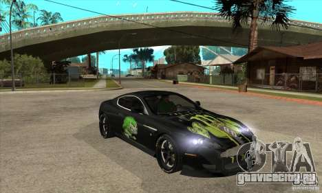 Aston Martin DB9 NFS PS Tuning для GTA San Andreas вид сзади