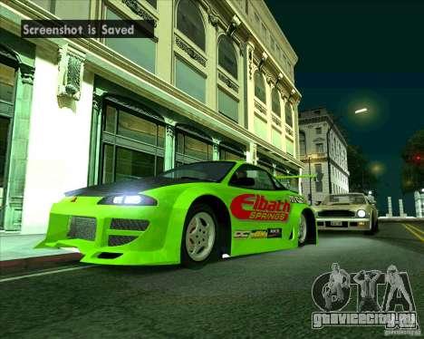 Mitsubishi Eclipse GS-t для GTA San Andreas вид сзади слева