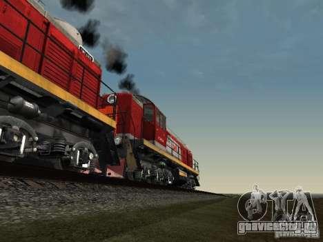 ТЭМ2-6883 РЖД для GTA San Andreas вид снизу