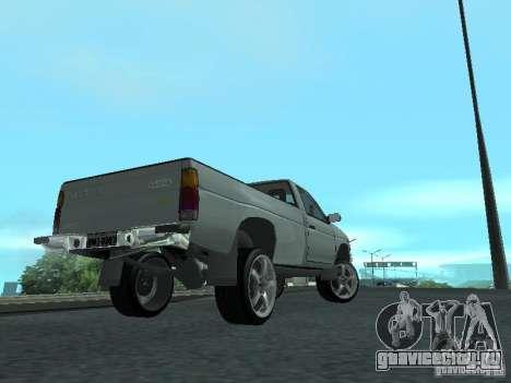 Nissan Pick-up D21 для GTA San Andreas вид изнутри