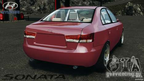 Hyundai Sonata v1.0 для GTA 4 вид сзади слева